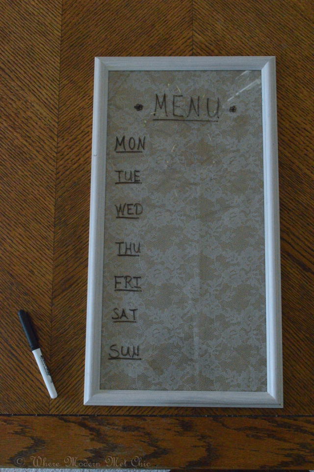 How to - Menu board 6